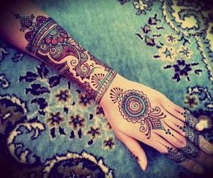 tattoo, henna, and hand image