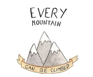 quote, mountains, and text image