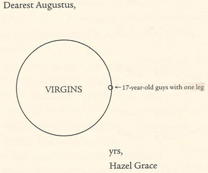 the fault in our stars, hazel grace, and augustus waters image