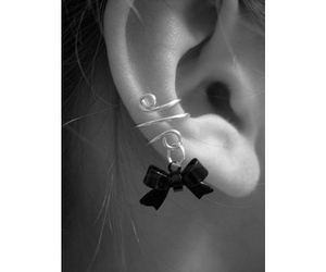 earrings, bow, and jewelry image