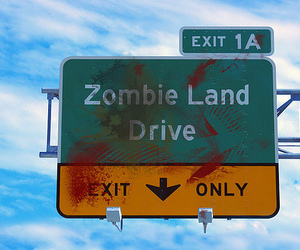 zombie, exit, and drive image