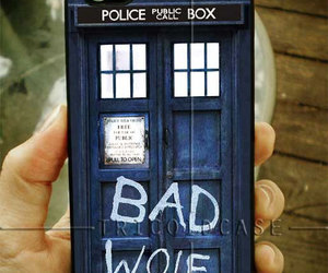 bad wolf, iphone 4 4s 5 case, and doctor who image
