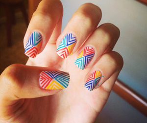 fashion, girl, and nail art image