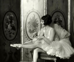 vintage, ballet, and black and white image