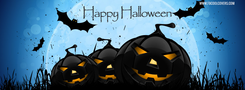 Halloween facebook covers for the timeline profile for boys and girls.