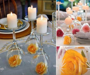 candles, events, and roses image