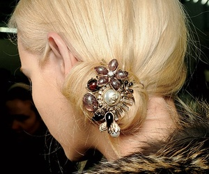 vintage brooch in hair image