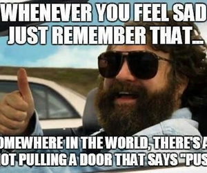 funny, pull, and door image