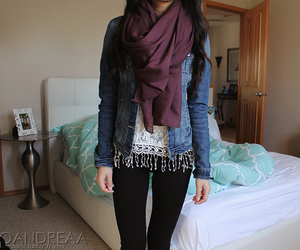 clothes, denim jacket, and fashion image