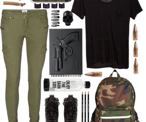 army, backpack, and camo image