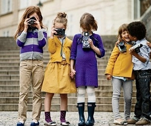 kids, camera, and photography image