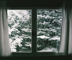 snow, winter, and window image
