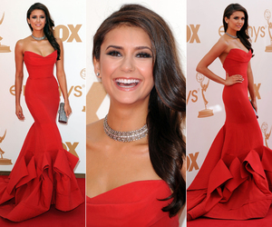 Nina Dobrev, red, and dress image