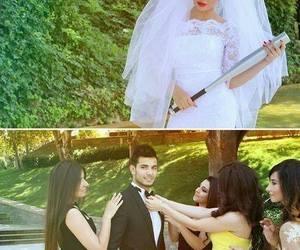 wedding, marriage, and couple image