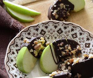chocolate, apples, and food image