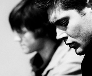 black and white, boy, and dean winchester image
