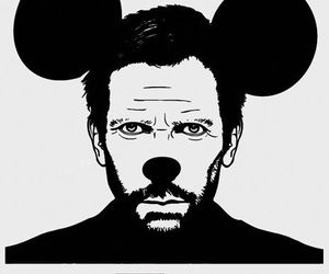 black&white, disney, and dr house image