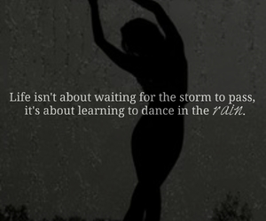 girl, quote, and rain image