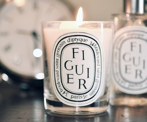 candle, diptyque, and figuier image