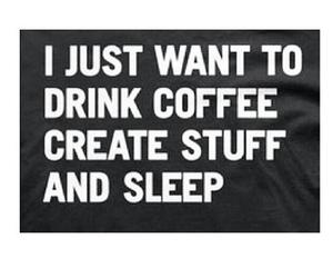 quote, coffee, and sleep image