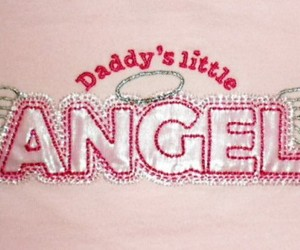 angel, pink, and daddy image