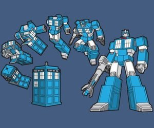 doctor who, transformers, and tardis image
