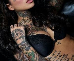 girl, tattoo, and sexy image