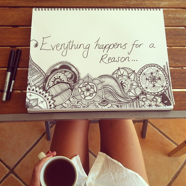 Everything happens for a reason on We Heart It