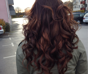 auburn, brown, and curls image