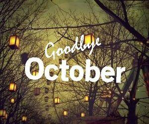 october, goodbye, and Halloween image