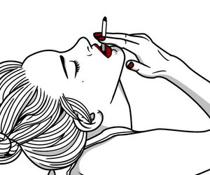 smoke, outline, and red image