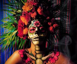dia de muertos, mexico, and calavera de azucar image
