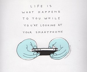 life, quotes, and smartphone image