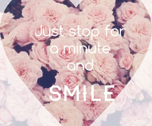 smile, flowers, and heart image