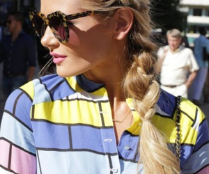 blonde, braid, and fashion image