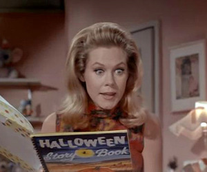 bewitched, elizabeth montgomery, and Halloween image
