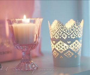 candle, lovely, and pink image