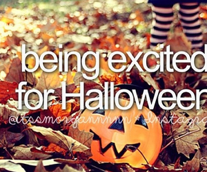 excited, Halloween, and pumpkin image