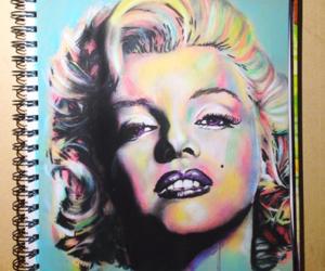 art, drawing, and Marilyn Monroe image