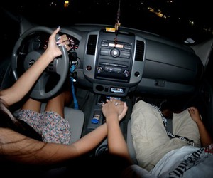 couple, car, and love image
