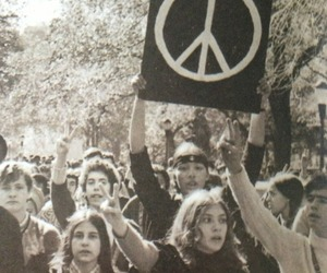 peace, hippie, and vintage image