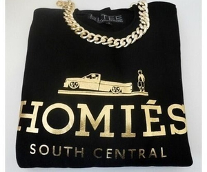 homies, gold, and fashion image