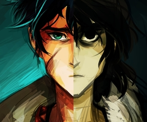 percy jackson, perico, and nico di angelo image
