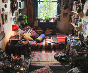 altar, bedroom, and bohemian image