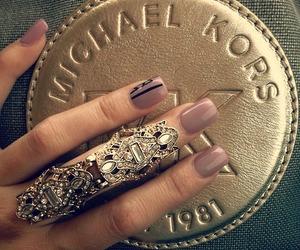 nails, Michael Kors, and ring image