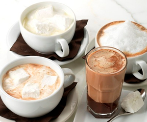 breakfast, Hot, and chocolate image