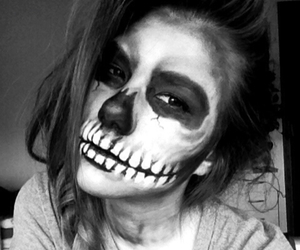 Halloween, white, and black image