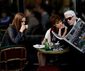 fashion, karl lagerfeld, and model image