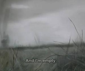 quote, empty, and sad image