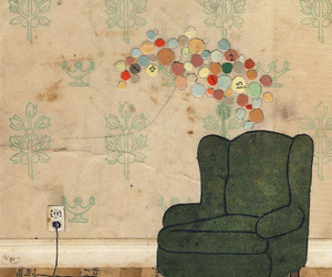art, wallpaper, and chair image